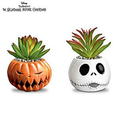 The Nightmare Before Christmas Succulents Collection, Issue One: The Pumpkin King and Jack Skellingt...