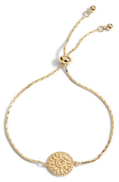 Sun Disc Bolo Bracelet