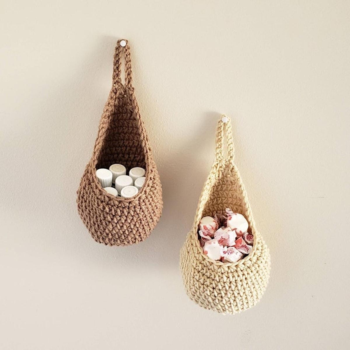 Crochet Hanging Baskets