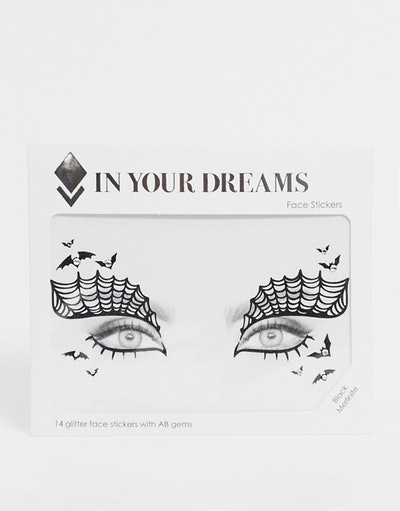 In Your Dreams Halloween Black Merlinite Face Stickers