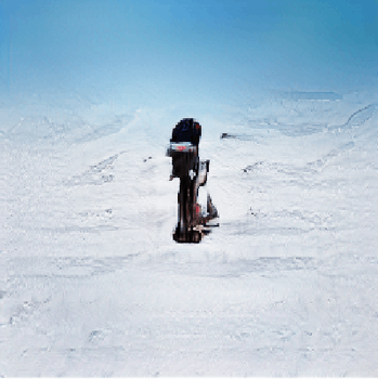An AI-generated image of a man on a skiing hill.