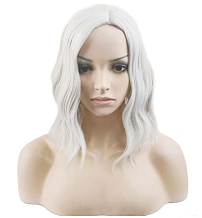 BERON Short Curly Bob Wig Charming Women Girls Beach Wave Wigs for Cosplay Costume Party Wig Cap Included