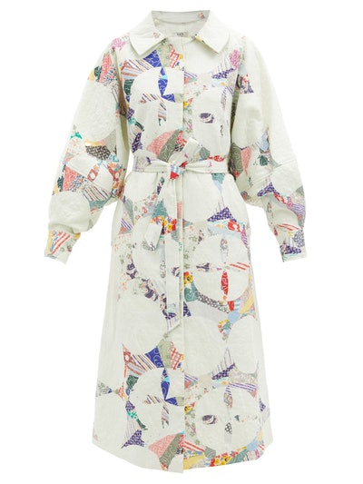 Paloma patchwork quilted cotton coat