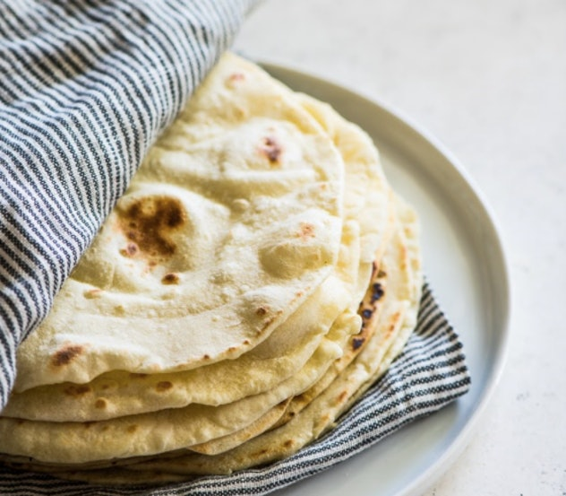 Homemade Tortillas are an easy after-school snack kids can help make