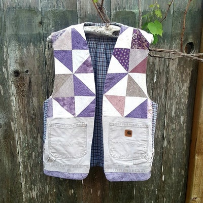 Handmade Purple Quilt Vest
