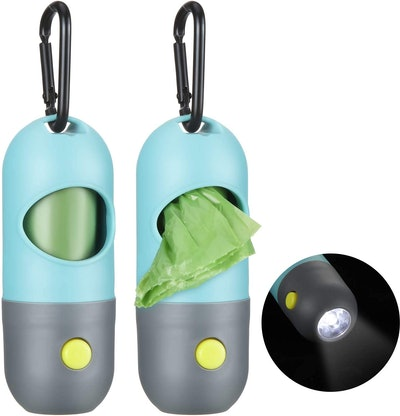 Blulu Dog Waste Bags Dispensers with Flashlight (2-Pack)