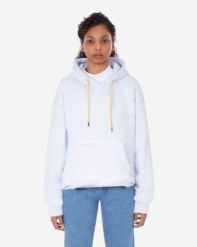 Sherpa Cropped Hooded Sweatshirt