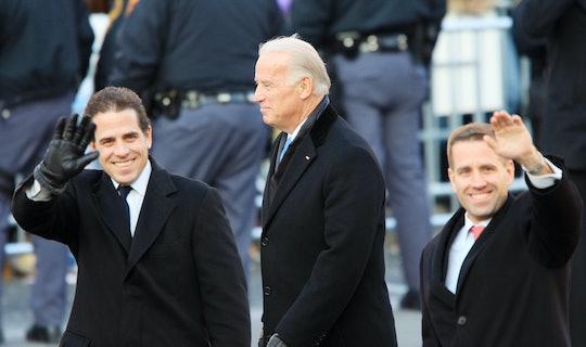 Vice-President Joe Biden and sons Hunter Biden (L) and Beau Biden walk in the Inaugural Parade January 20, 2009 in Washington, DC.