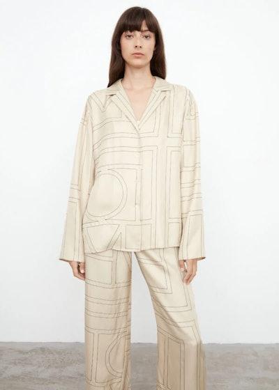 Sanville blouse ivory monogram