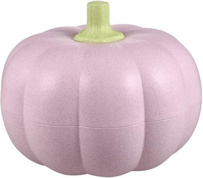 Two Tier Pink Pumpkin Snack Bowl