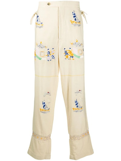 Sailing straight-leg trousers