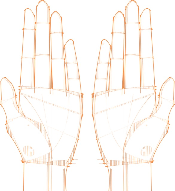 Left and right hands.