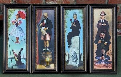 Disneyland Haunted Mansion Set of 4 Stretch Paintings