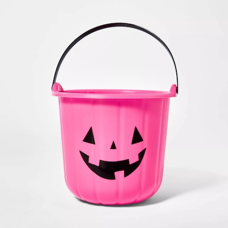 Pink Trick or Treat Bucket