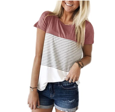 YunJey Color Block T-Shirt