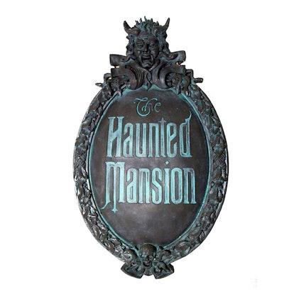 Haunted Mansion Mini Gate Plaque