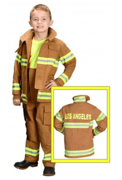 Kids Los Angeles Fire Fighter Costume - Tan