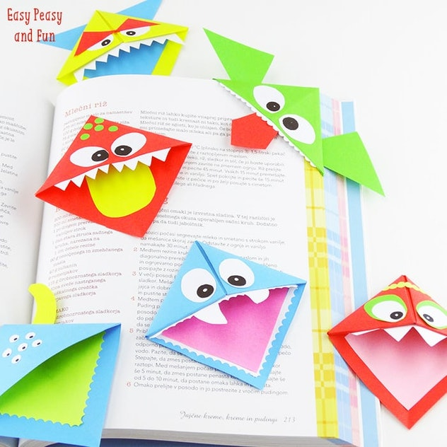 These monster bookmarks encourage reading and some Halloween crafting fun.