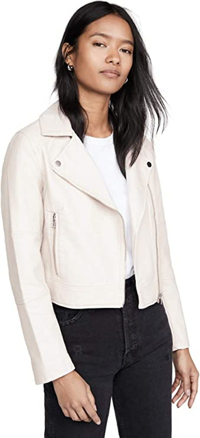 cupcakes and cashmere Women's Chandler Pebble Vegan Leather Moto Jacket
