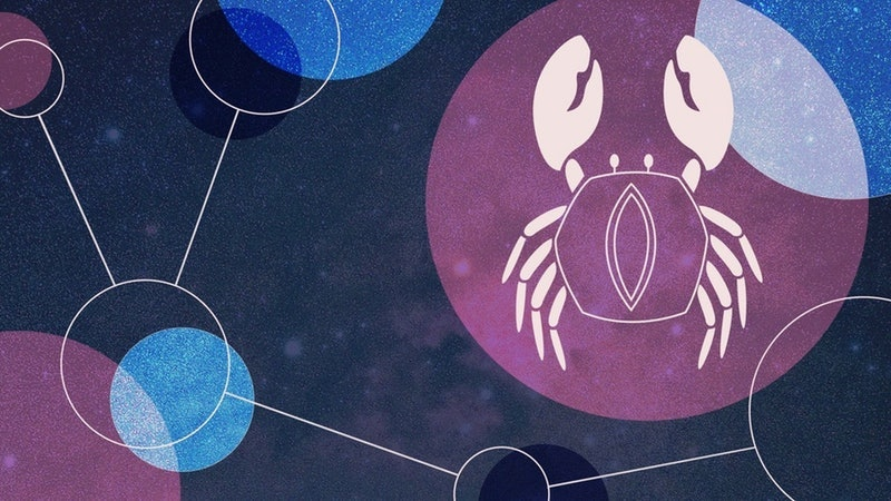 Cancer zodiac sign illustration