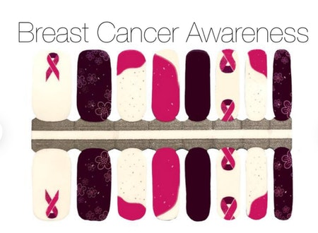 ShopNailsOnTheGo Breast Cancer Awareness Nail Wraps