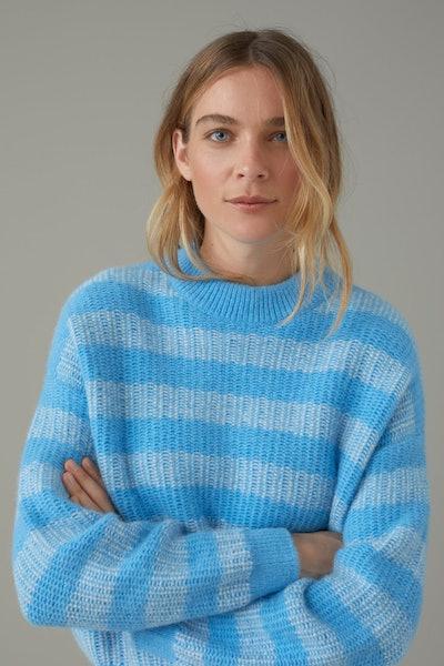 Royal Baby Alpaca Mix Jacquard Sweater