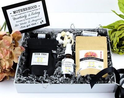 ElderNHoneyCoGifts Organic Postpartum Gift Basket