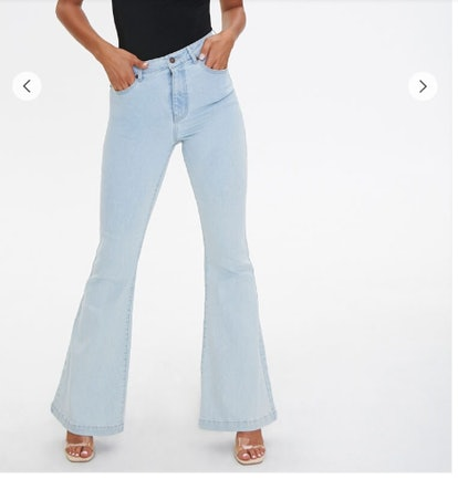 Clean Wash Flare Jeans