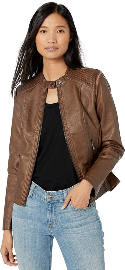 Sebby Collection Women's Faux Leather Jacket