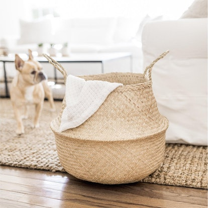 Woven Natural Seagrass Storage Basket