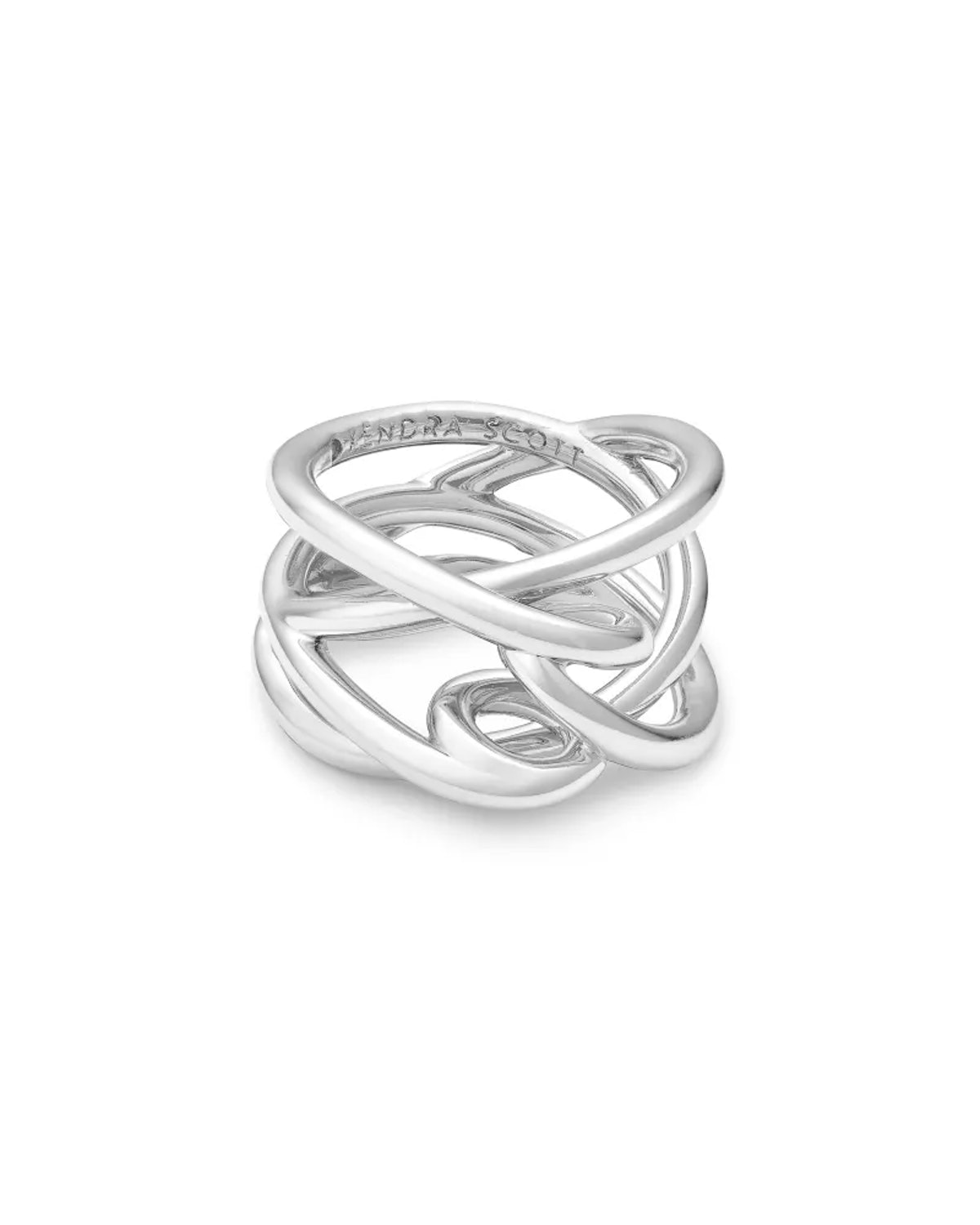 Kendra Scott Myles Band Ring In Bright Silver
