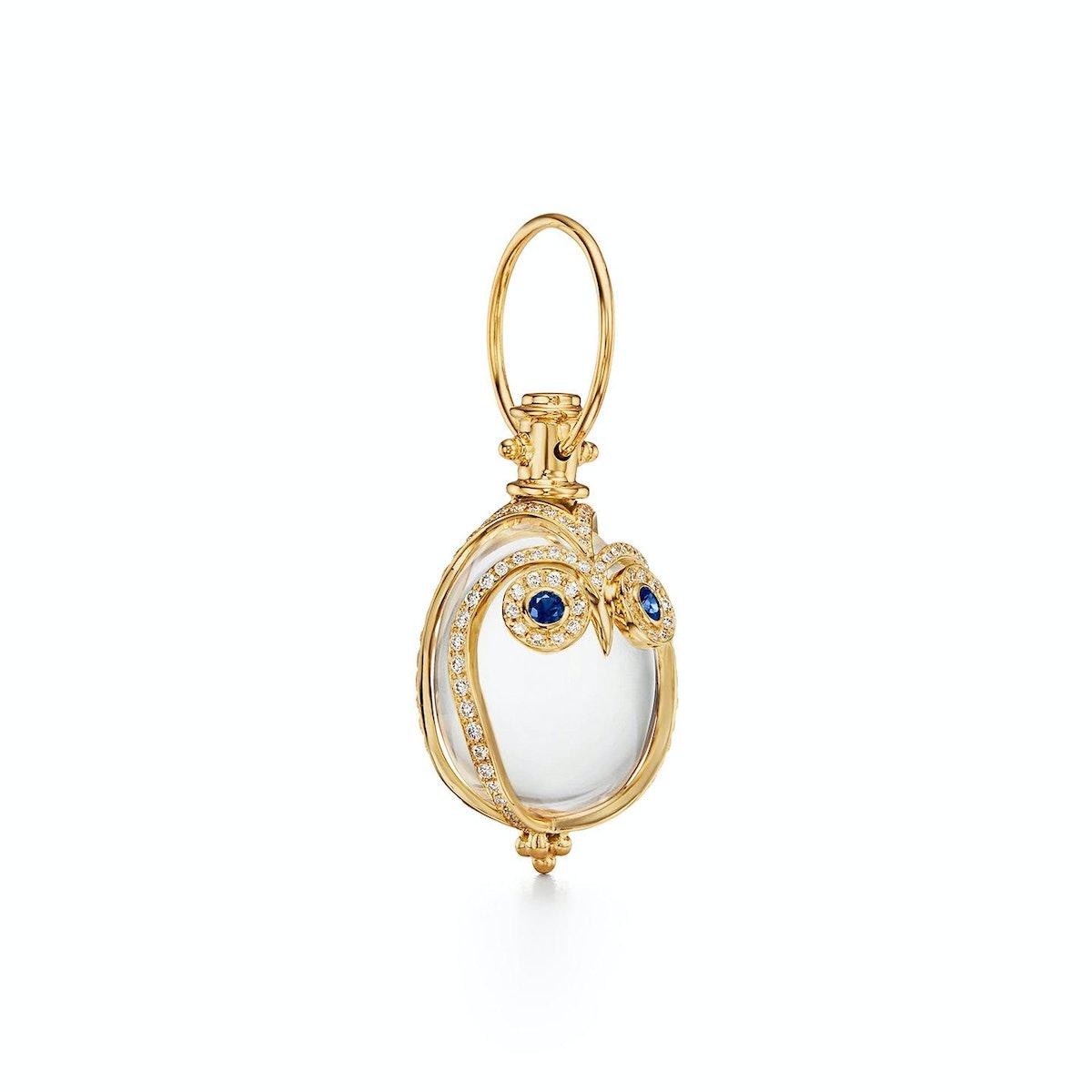 18K Owl Amulet