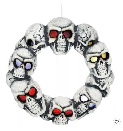 Halloween Skull Wreath With Light