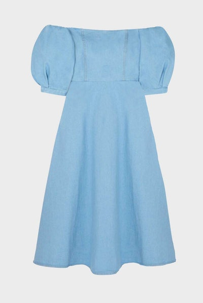 Denim Off-Shoulder Dress