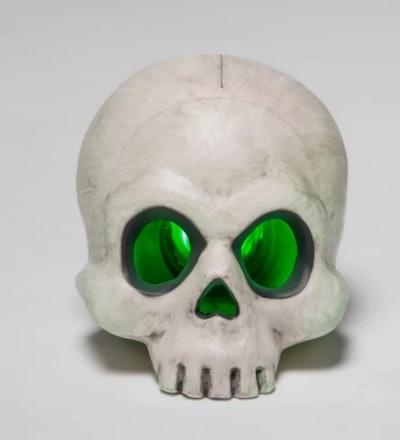 "4"" Color Changing Light Up Skull Halloween Decorative Prop"