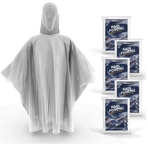 Hagon PRO Disposable Rain Ponchos (5-Pack)