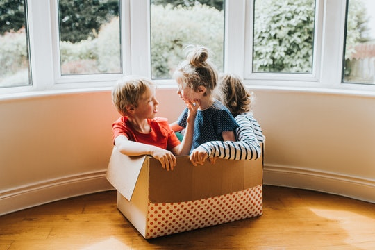 Siblings playing in an empty box: kids share what they loved about quarantine during the coronavirus...