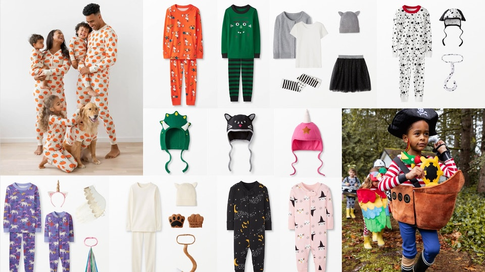 Hanna Andersson Halloween Collection with pajamas, costumes, accessories