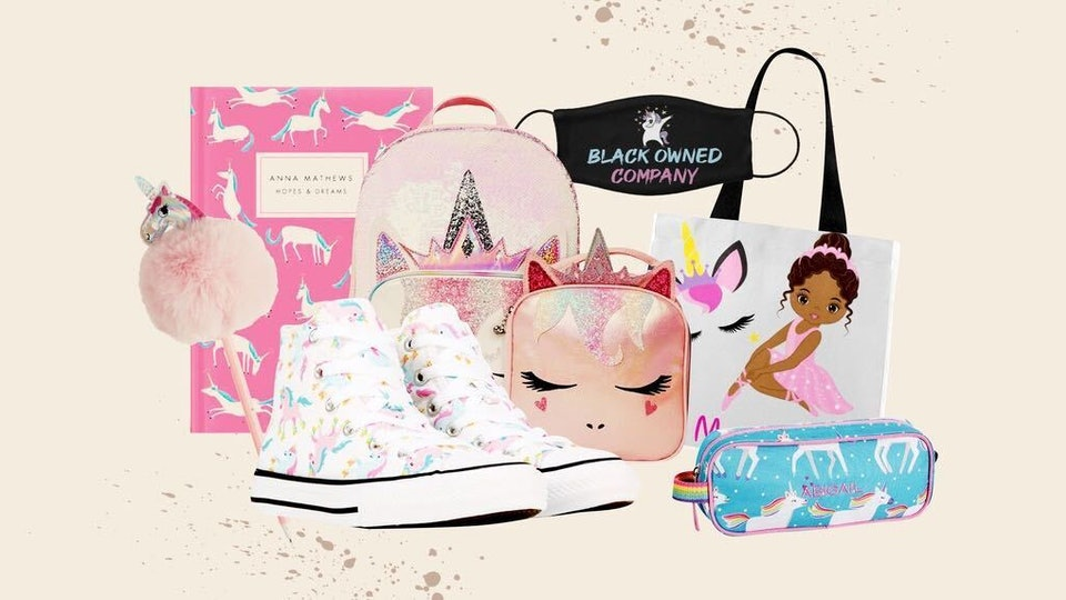 a roundup of unicorn-themed products for back to school