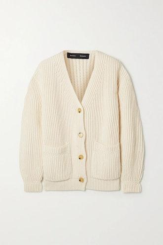 Ribbed Cotton Cardigan