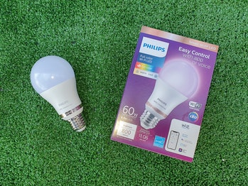 A Philips Wiz Connected smart light bulb