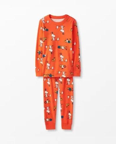Family Match Seasonal Peanuts Long John Pajamas