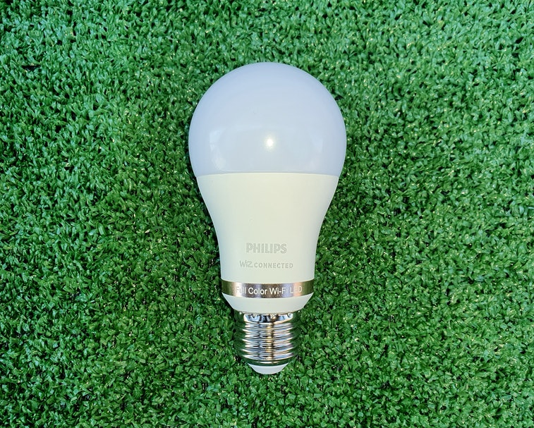 A Philips Smart Wi-Fi Wiz LED bulb