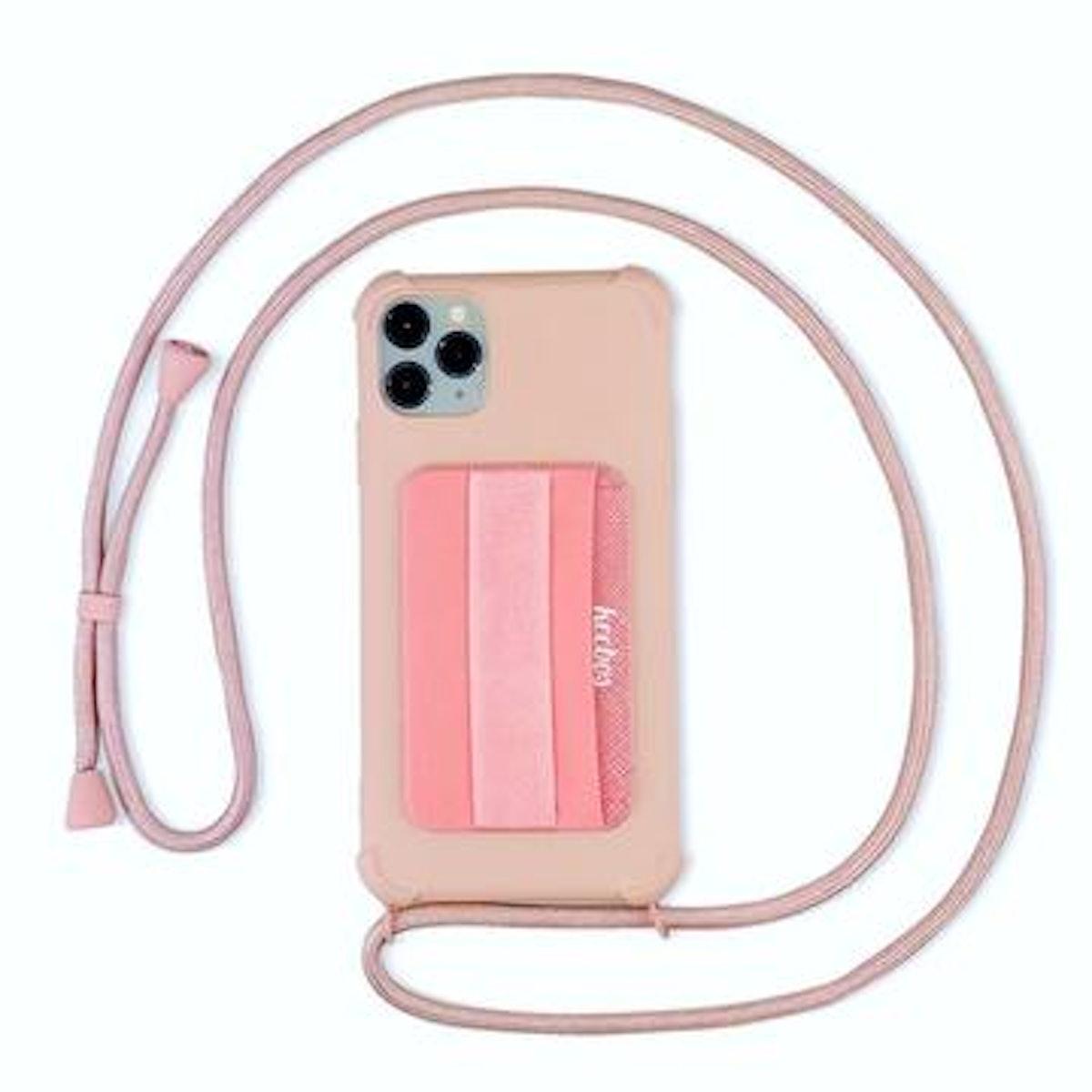 Keebos Crossbody iPhone Case in Rose