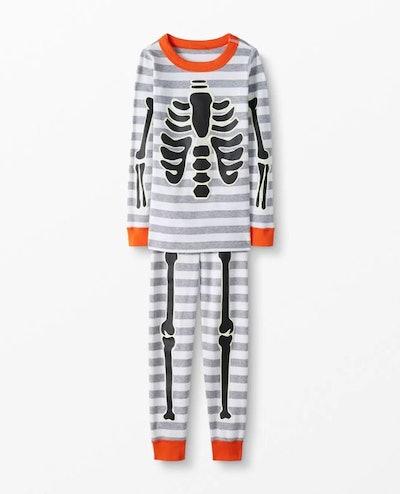 Long John Pajamas In Organic Cotton – Glow in the Dark Skeleton