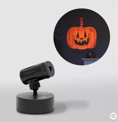 Orange Pumpkin Battery Operated LED Halloween Projector
