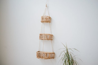 Three tier hanging basket| Hanging woven baskets