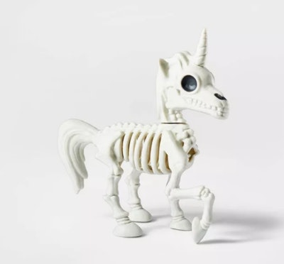 Small Unicorn Skeleton Halloween Decorative Prop