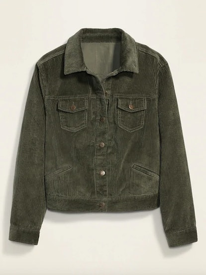 Old Navy Cropped Corduroy Trucker Plus-Size Jacket