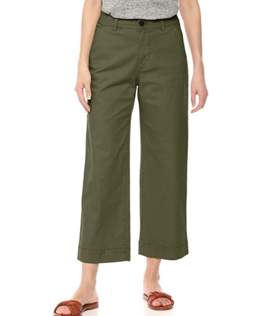 Daily Ritual Washed Chino Wide Leg Pant
